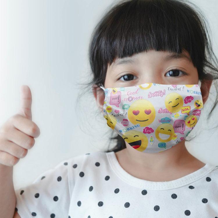 dziecięca maseczka ochronna EMOJI (XS)
