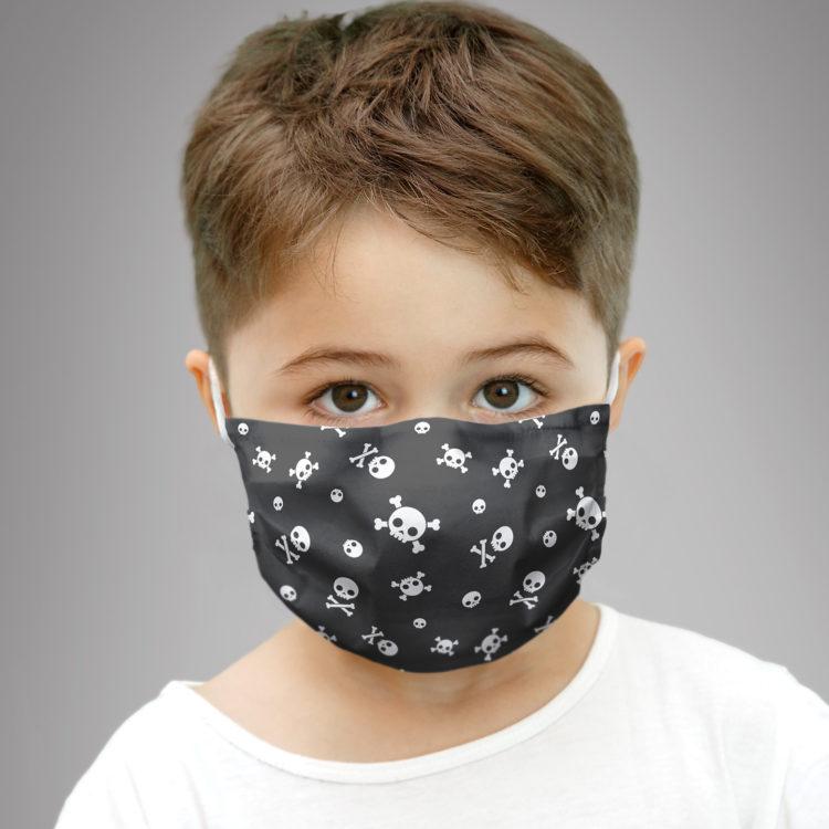 dziecięca maseczka ochronna LITTLE PIRATE BLACK (XS)