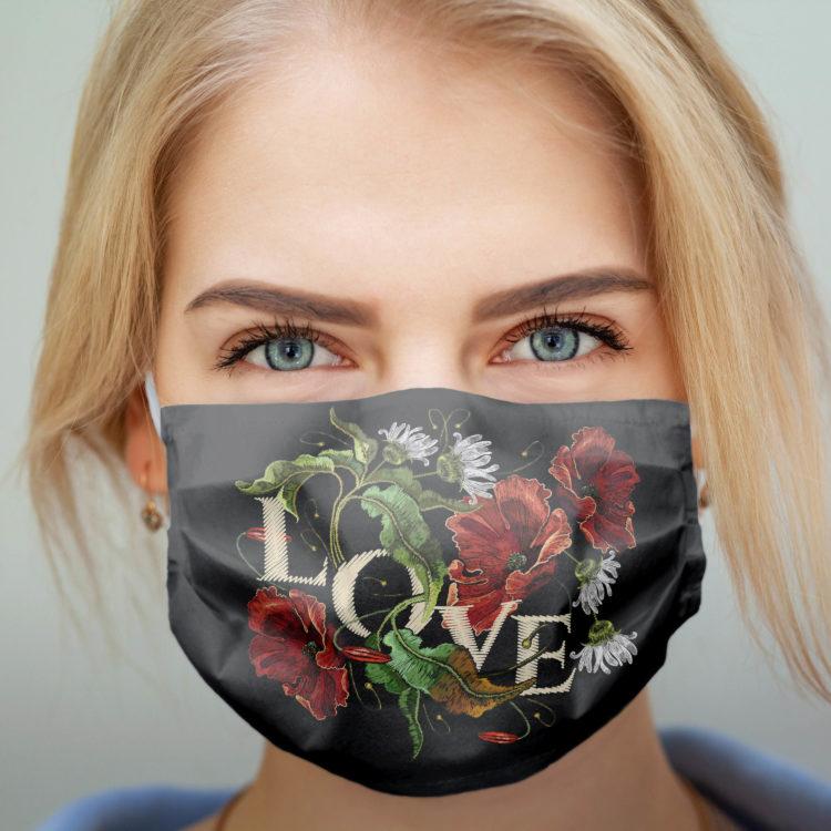wzorzysta maseczka ochronna MODERN LOVE (M)